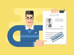 We are hiring. Accepted resume Stock Illustration