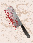 Stock Illustration of Cleaver murder weapon