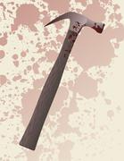 Hammer murder weapon - stock illustration