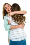 Mother comfort her daughter - stock photo