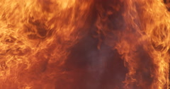 Slow-motion smoke and flames fill the screen Stock Footage