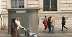 Public toilet Paris Stock Footage