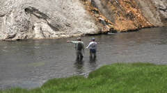 Instruction guide sport fly fishing Yellowstone HD - stock footage