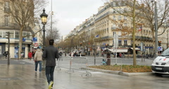 Security at Place de la Republique, Paris Stock Footage
