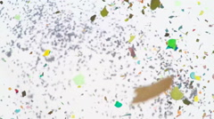 Colorful Confetti Video - Slow Motion Stock Footage