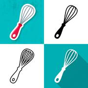 Vector whisk icon Stock Illustration