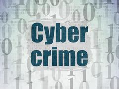 Stock Illustration of Security concept: Cyber Crime on Digital Paper background