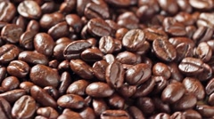 Rotating coffee beans Stock Footage