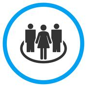 Stock Illustration of People Society Circled Icon