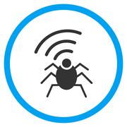 Radio Spy Insect Rounded Icon Stock Illustration