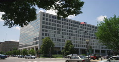 Federal Building at Independence Avenue and 7th Street in Washington DC. Shot in Stock Footage
