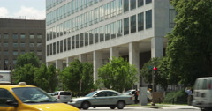 US Department of Transportation at Indiana Avenue and 7th Street in Washington Stock Footage