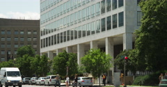 Tilt-up on US Department of Transportation at Indiana Avenue and 7th Street in Stock Footage