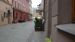 Old town in Lublin, Poland Stock Footage
