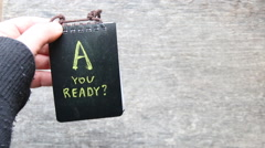 Are You Ready idea - stock footage