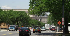 Looking up 7th Street from Indiana Avenue in Washington DC. Shot in May 2012. Stock Footage