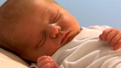 Close-up of sleeping newborn Stock Footage