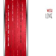 I love you words red background. Stock Illustration