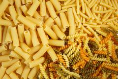 Different types of pasta Stock Photos