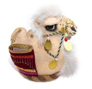 Souvenir soft toy camel on a white background Stock Photos