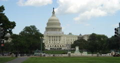 US Capitol Building from 3rd Street. Shot in 2012. Stock Footage