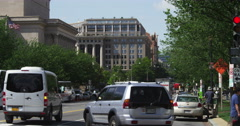 Looking north up 7th Street from Madison Drive in Washington DC. Shot in May Stock Footage