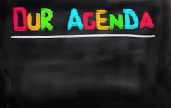 Our Agenda Concept - stock illustration