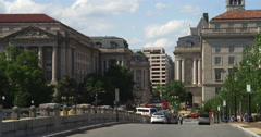 Looking north on 12th Street at Madison Drive in Washington DC. Shot in May Stock Footage