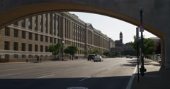 Looking west on Indiana Avenue in Washington DC. Shot in May 2012. Stock Footage