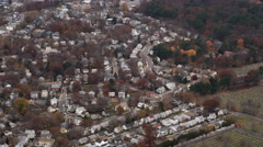 Flying over suburbs south of Boston. Shot in 2011. Stock Footage