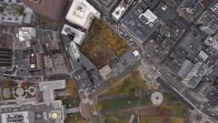 Leisurely flight over Boston cityscape. Shot in 2011. - stock footage
