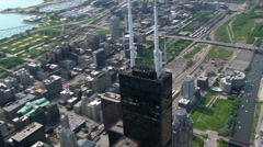 Orbiting the Sears Tower in Chicago. Shot in 2003. Stock Footage