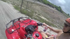 Girls Having Fun in the Buggy, Natal, Brazil Stock Footage