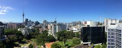 Panoramic view of Auckland city skyline - New Zealand. - stock photo