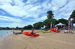 Stock Photo of Mission bay beach in Auckland New Zealand