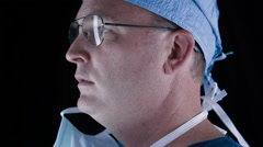 Male Surgeon On Isolated Backgrond - stock footage