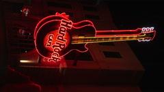Hard Rock Cafe at Falls Ave. , Niagara Falls, Canada Stock Footage