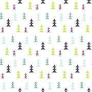 Abstract multicolor pine forest seamless pattern - stock illustration