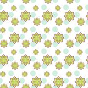 Succulent green and purple seamless pattern - stock illustration