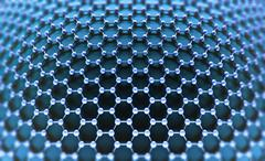 Crystallized Carbon Hexagonal System - stock illustration