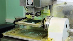Making copy jewelry of plastic in milling machine. Stock Footage