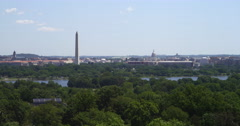 Capitol Building and Washington Monument from Arlington House, Arlington Stock Footage