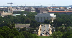 Lincoln Memorial with Arlington Memorial Bridge in foreground. Shot in May 2012. Stock Footage