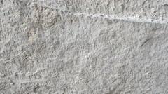Stock Video Footage of Rock limestone wall closeup