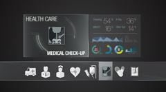 Medical check up icon for Health Care contents. Digital display application. - stock footage