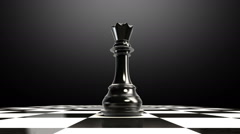 Put the chess piece on a chessboard, ending Queen, animation. Stock Footage