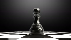 Put the chess piece on a chessboard, ending pawn, animation. Stock Footage