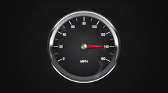Increase  MPM gauge. animation.(included alpha) - stock footage