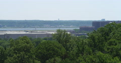 Pentagon Building from Arlington National Cemetery. Shot in 2012. Stock Footage
