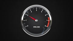 Indicated two point of RPM gauge. animation.(included alpha) - stock footage